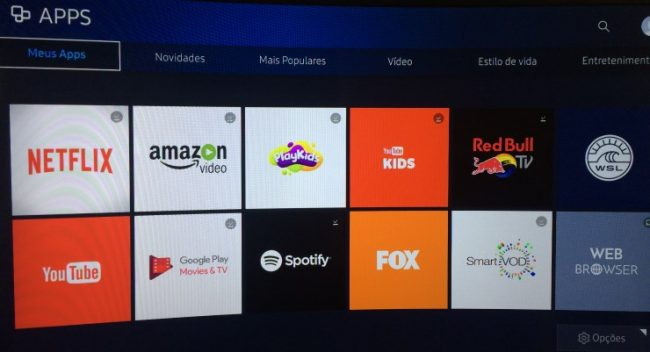 Aplicativos Netflix Youtube smarttv